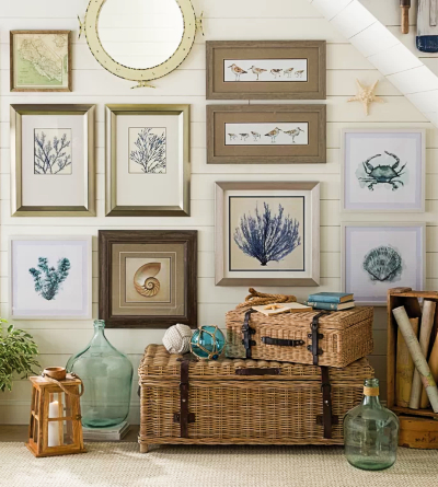 Coastal Gallery Wall Art Decor Ideas