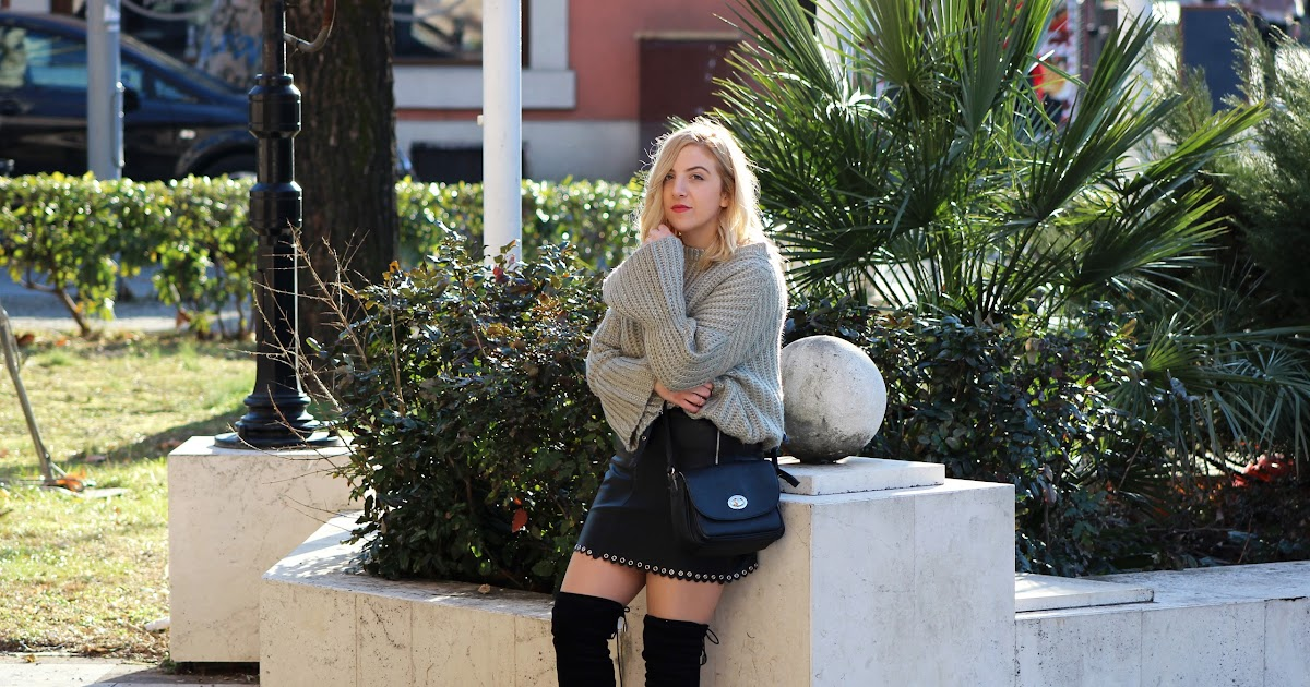 Leather Skirt And Bell Sleeves The Nine By Ivana