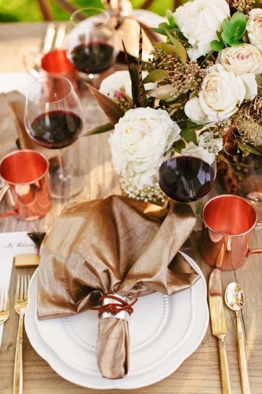 cubertería dorada para boda