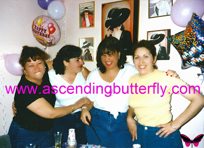 Ascending Butterfly Birthday with mom and aunts
