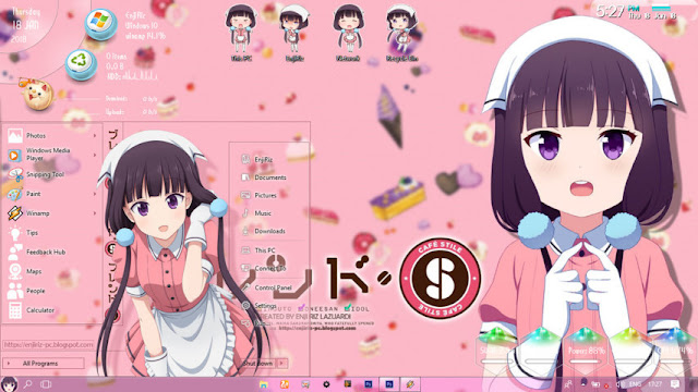 Windows 10 Ver. 1703 Theme Blend S Sakuranomiya Maika by Enji Riz