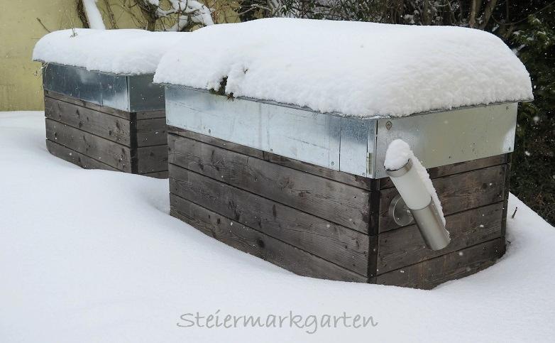 Hochbeete-im-Schnee-Steiermarkgarten