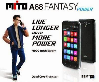Mito Fantasy Power A68, Harga Rp 1.49 Juta Baterai Tahan Lama