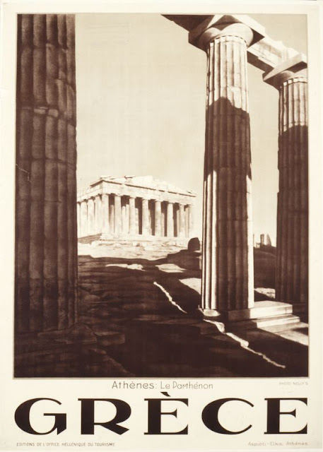 Acropolis, Athens, Greece Vintage travel poster 1929
