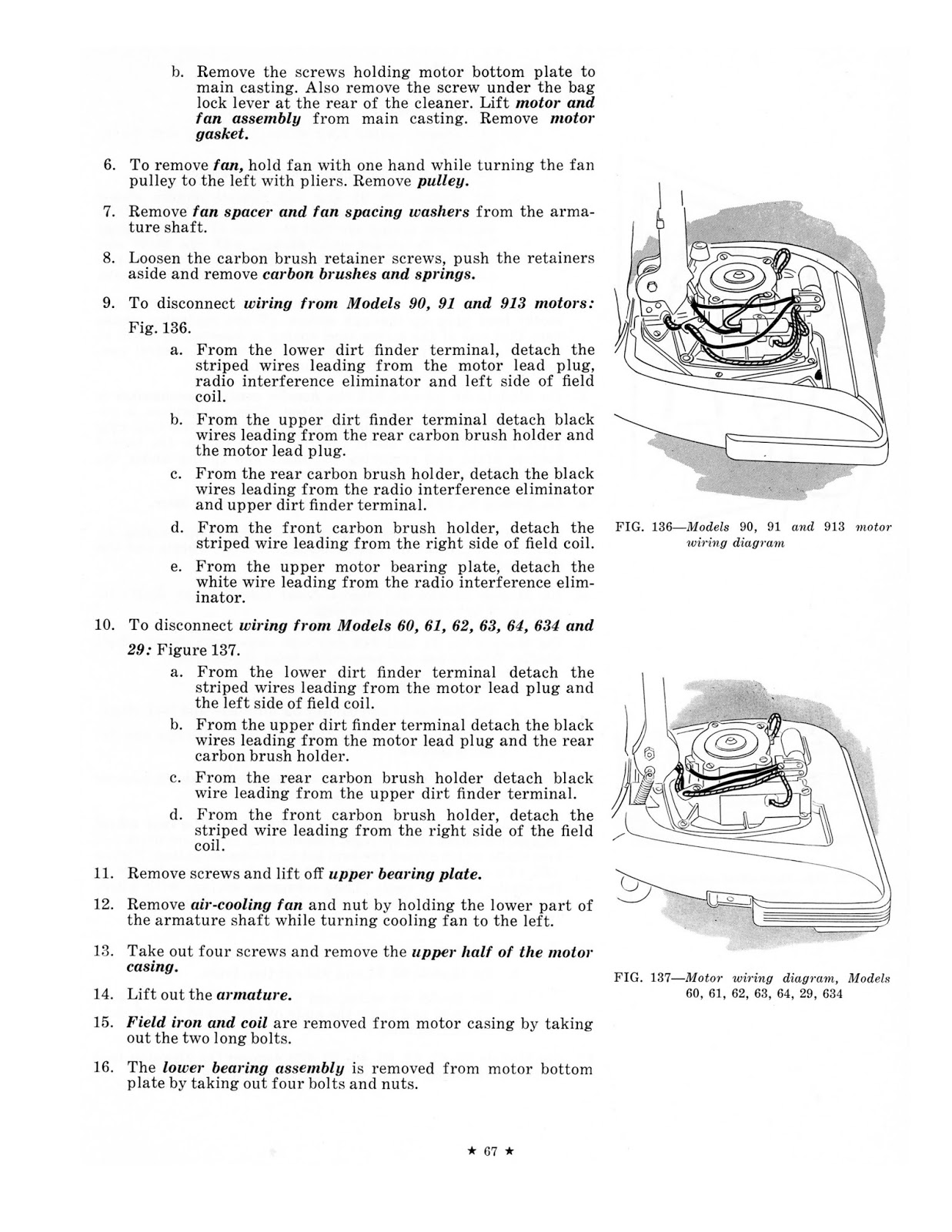 1957 Hoover Us Service Manual Rug Doctor Wiring Diagram