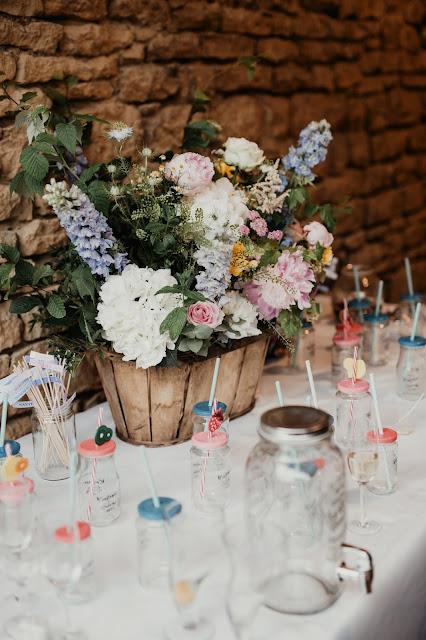 Fleuriste mariage Lyon, buffet de cocktail