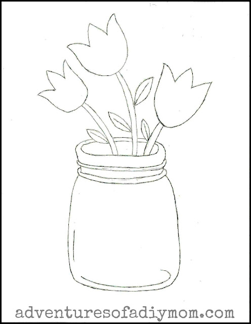 Tulips in a Jar Free Pattern Download