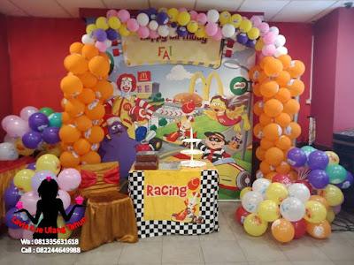 Pesanan kue ulang tahun buat di Mcd Sidoarjo