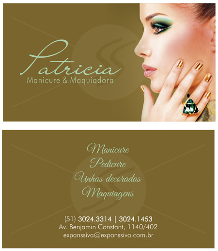 cartao de visita manicure sp - Cartões de Visita para Manicure e Pedicure