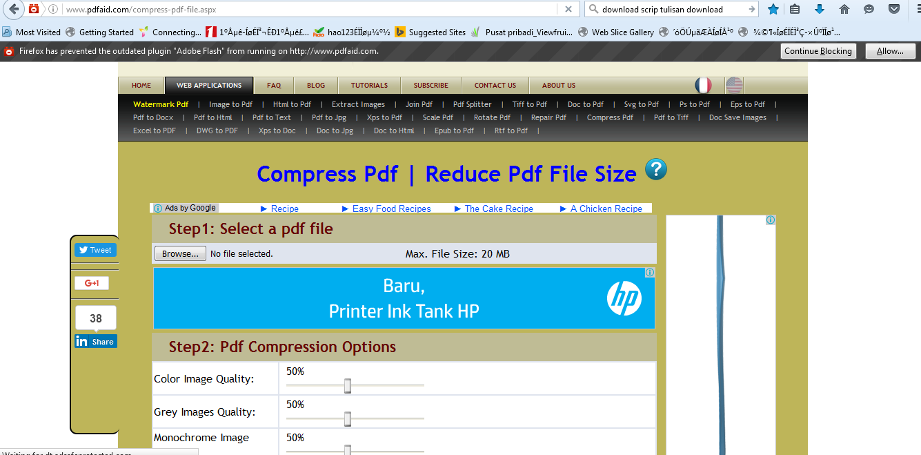 Compress pdf online to 300 kb use pdfaid comppres online select web aplication compress pdf so the display appears as below stopboris Images