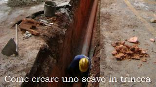 lavori scavi in trincea sicurezza in cantiere