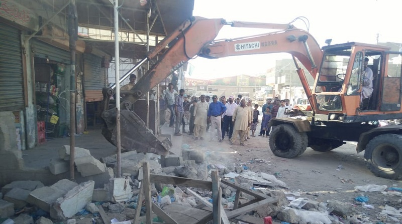 Encroachment removal drive in Karachi is in full swing