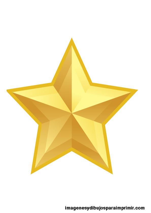 estrellas doradas grandes para imprimir