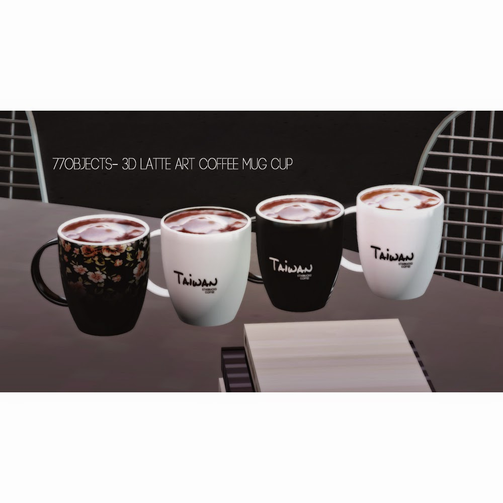My Sims 3 Blog 3D Latte Art Coffee Mug Cup Set Starbucks