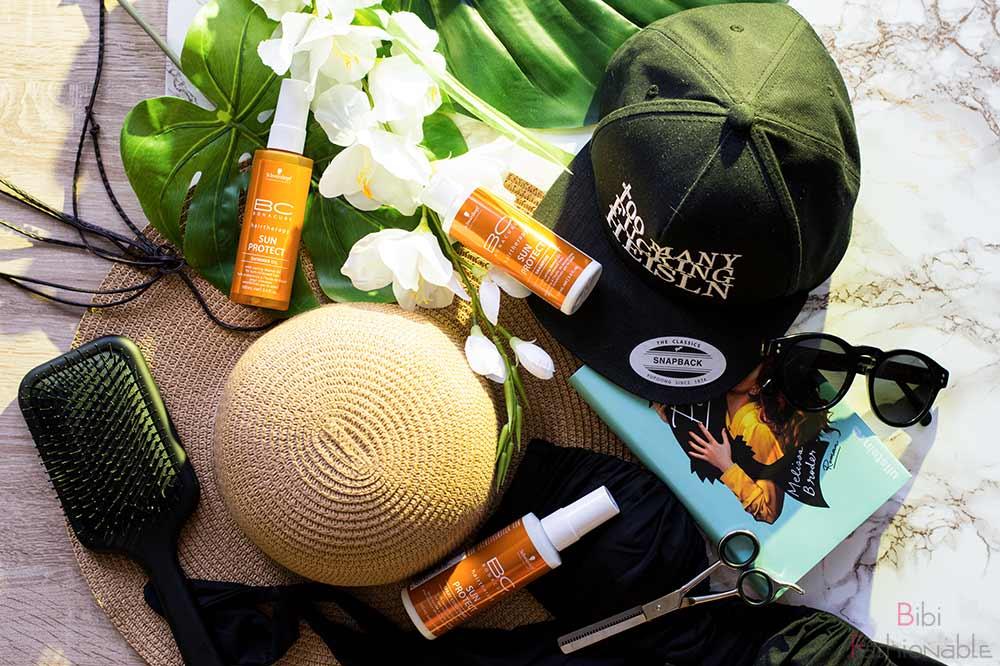 Sonnenschutz fürs Haar Flatlay