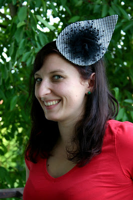 headpiece fascinator tuell bluete