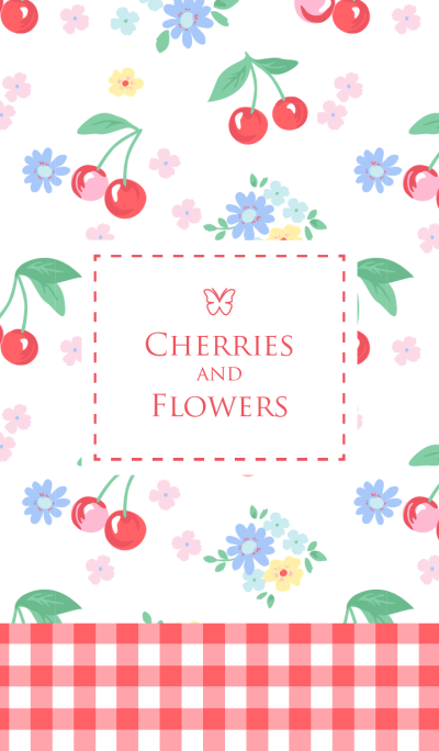 Cherries and flowers - for World