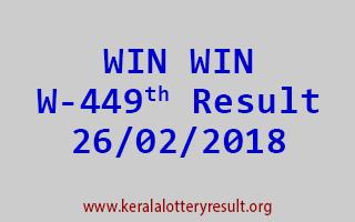 WIN WIN Lottery W 449 Results 26-02-2018