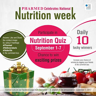 Nutrition Quiz win exciting prizes daily #Contestalert