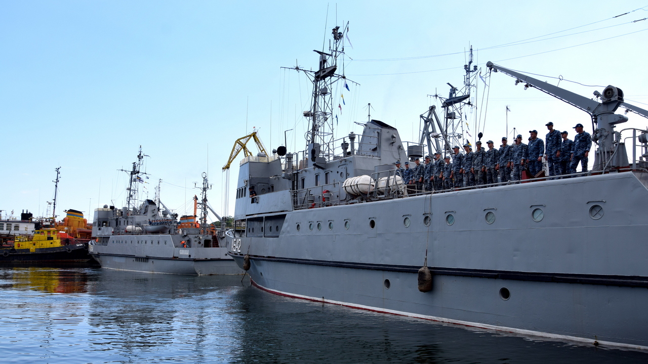 Катери ВМСУ «Нова Каховка» (А542), «Сміла» (А541) та «Чигирин» (А540)