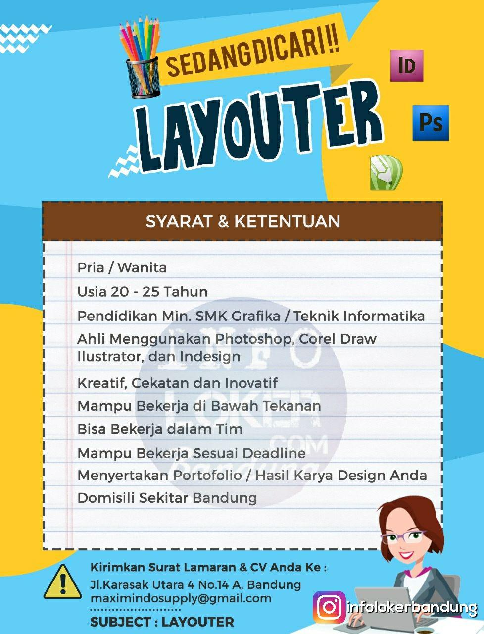 Lowongan Kerja Layouter Maximindo Supply Oktober 2017