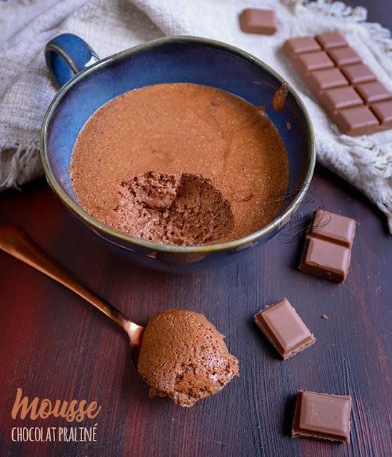 mousse chocolat praliné recette