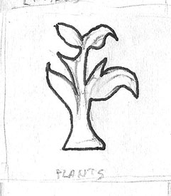 Plants Raw Drawing