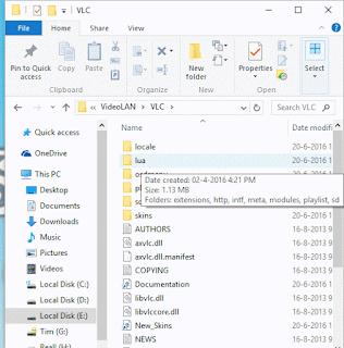 VLC program files folder