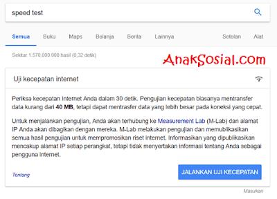 Uji Kecepatan Dengan Google