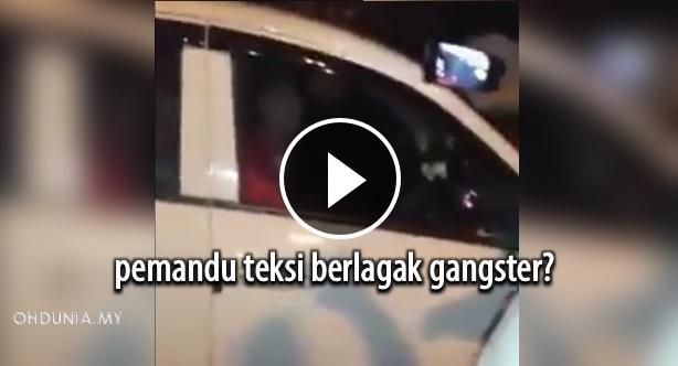 Sekumpulan Pemandu Teksi Anti Uber Car Berlagak Gangsters