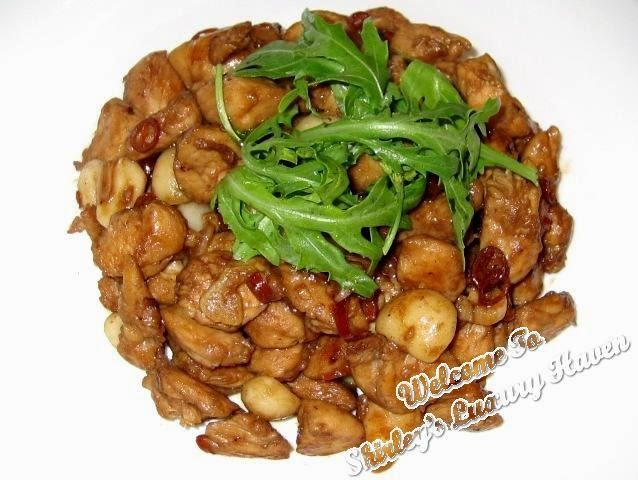 kung pao chicken with macadamia nuts