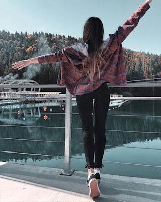 pose tumblr paisaje invierno de espaldas