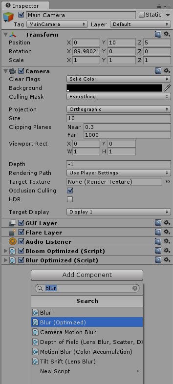 Unity - Create a fullscreen Blur for 3D and 2D elements