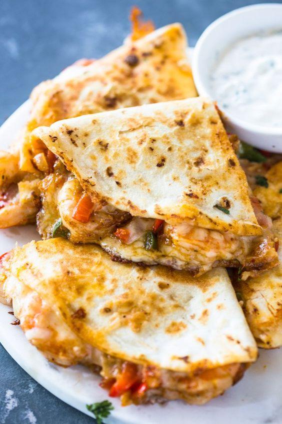 THE BEST SHRIMP QUESADILLAS #thebest #shrimp #quesadillas #tasty #tastyrecipes #delicious #deliciousrecipes