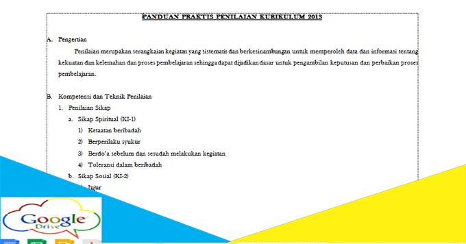 Panduan Praktis Penilaian Kurikulum 2013 Guru Kelas File