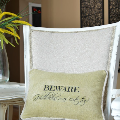A Sassy Pillow for the Armchair With Serious Attitude