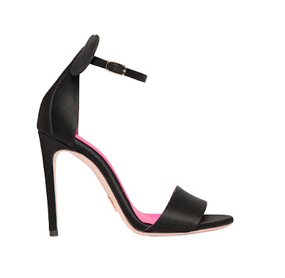 oscar tiye black satin high heeled sandals