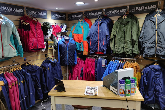 A Paramo shop inside our Hemel Hempstead / Berkhamsted store - Complete Outdoors