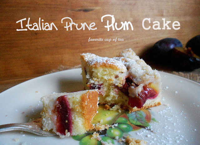 My Cup Of Tea Italian Prune Plum Cake Ciasto Ucierane Ze