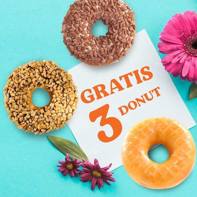 #DunkinDonut's - #Promo Gratis 3 Donut Untuk Pebelian 2 Minuman apa saja Pakai Kupon LINE
