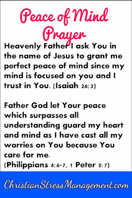Peace of mind prayer