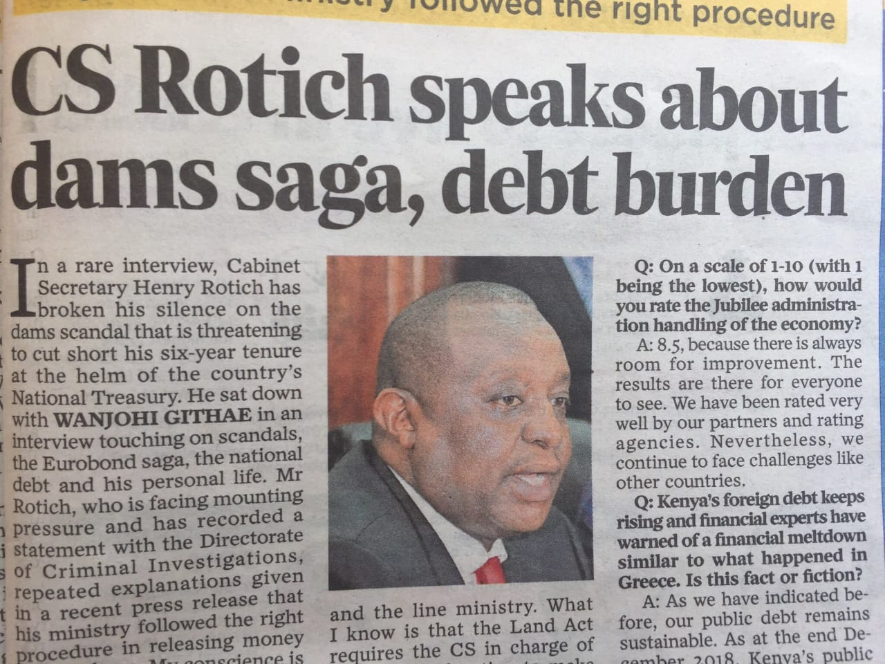 You Have A Single Digit IQ! Uhuru's Lawyer Attacks Henry Rotich