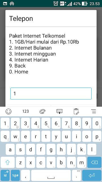Paket Internet Murah 1GB 10RB