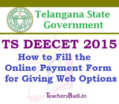 TS DEECET 2015,Online Payment Form, Web Options