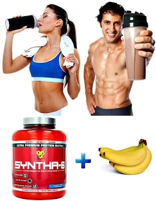 Syntha 6 batido banano masa muscular