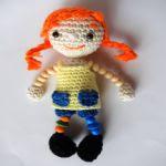 patron gratis muñeca Pipi amigurumi | free pattern amigurumi Pipi doll