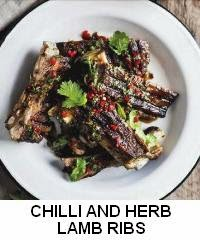 Chilli & herb lamb ribs