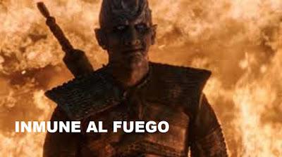 El Rey de la noche siendo quemado - Game of Thrones 8x03