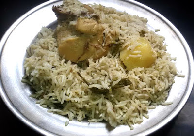 Delicious Step by Step Home Made Chicken And Potato Pulav Recipe