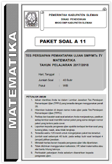 SOAL TRY OUT TPPU SLEMAN 2018